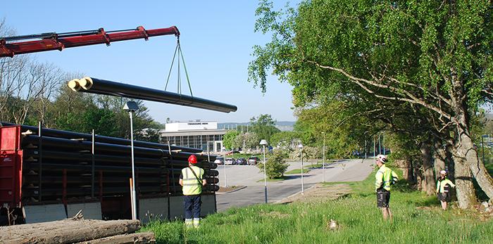 Rundmatningsprojekt för tryggare fjärrvärme i Stenungsund